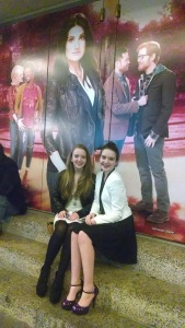 My sister Veronica and I after the musical and having our Playbills signed by the angels we just saw perform.