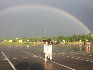 Double rainbow before the Florence concert, very fitting.