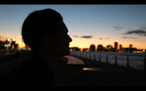 A screenshot from my first project of the school year, I shot with my friend Kevin. He's a decent actor...